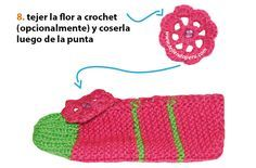 Cómo tejer pantuflas en dos agujas o palitos para damas Crochet Slippers, Knit Crochet, Crochet Hats, Baby Shoes, Knitting, Kids, Crafts, Socks, Fashion