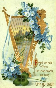 Forget-me-nots of blue for Irish hearts so true. Erin-go-Bragh