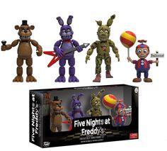 Five Nights at Freddy s Four Action Figure Vinyl Figure Set TWO Vinyl Figure 6cm
