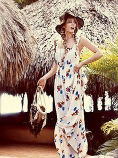 Free People Silk Floral Maxi Dress