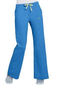 IguanaMed Drawstring Pants - Azure blue - L: Drawstring and elastic waistband midrise inseam… #NursingScrubs #MedicalScrubs #DiscountScrubs