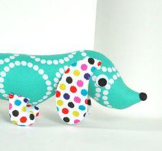 Childrens Toy Stuffed Animal Plush Wiener Dog Dachshund Soft Baby EDIE on Etsy, $28.00