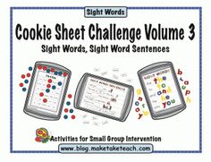 3 sight word activities that can be used on a cookie sheet. Great for literacy centers.  FREE sample templates.