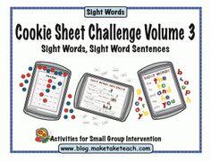 Cookie Sheet Challenge Volume 3:  Sight Words
