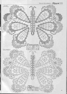 Crochet butterfly diagrams..