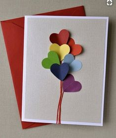 Inspirace na ručně vyrobené svatební přání (Handmade wedding card).