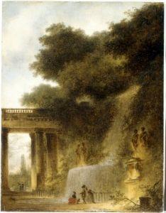 The Cascade - Jean-Honoré Fragonard - The Athenaeum