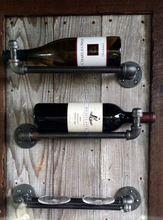 De hierro de época viento industrial de la tubería de pared vino vino vino vino rack rack de visualización de almacenamiento(China (Mainland))