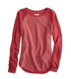 AEO Factory Tonal Raglan Sweatshirt