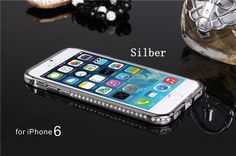 Metall Bumper mit Diamanten für iPhone 6/6 Plus - spitzekarte.com