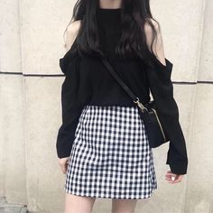 clothes and styles Style Outfits, Kpop Fashion Outfits, Korean Outfits, Cute Casual Outfits, Grunge Outfits, Skirt Outfits, Korean Girl Fashion, Korean Fashion Trends, Korean Street Fashion
