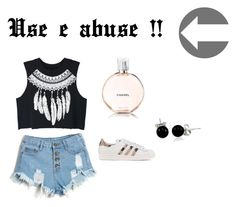 """Use e abuse !!"" by duda-mmaia ❤ liked on Polyvore featuring WithChic, adidas Originals, Chanel and Bling Jewelry"