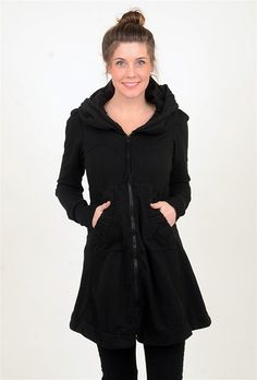 How to sum up perfection? It's as easy as 'Long Cloak Hoodie.' Perhaps our all-time-favorite item of clothing, this uber-flattering organic-cotton hoodie can be worn as a jacket or a dress, and visually shaves 10 pounds off every figure thanks to its sublime cut. Yes, it's pricey. But so worth it!