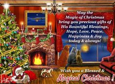 A magical card with true spirit of Christmas and a warm message to wish your near & dear ones.