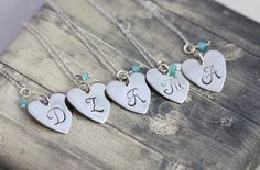 Argentium Sterling Silver #heart pendant #necklaces, initial necklaces, #namejewelry, #weddings, #bridesmaids, best friends, hearts for five by InspiredByBronx on Etsy https://www.etsy.com/listing/454835508/argentium-sterling-silver-heart-pendant