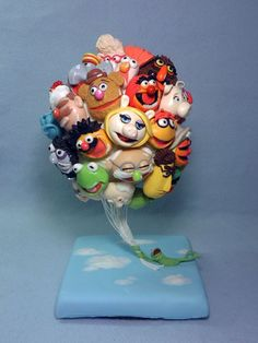 Muppets Balloons Cake made by Edible Art by Kate