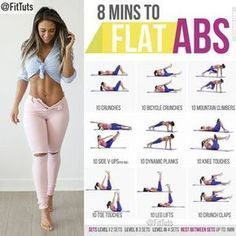 """Fitness Tutorials 〽️ on Instagram: """"8 mins to flat abs workout! Will you do it? : Tag a friend - like - save 〽️: Follow @FitTuts"""""""