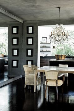 43 Best Dark Table Light Chairs Images Kitchen Dining
