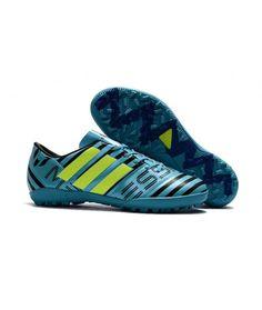 online store 7b976 4f28f Adidas Messi Nemeziz 17.1 TF KUNSTGRÆS fodboldstøvler blå grøn sort
