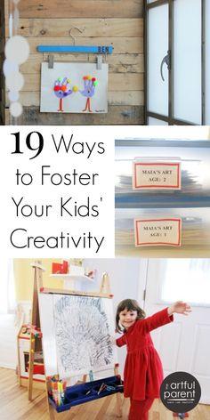19 Ways to Foster Kids Creativity