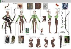 Character Reference Sheet, Character Model Sheet, Character Modeling, Character Design, Girl Inspiration, Archer, Concept Art, Animation, Poses