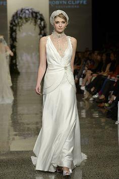 Off-white satin wedding drerss Satin Gown, White Satin, Off White, Gowns, Wedding Dresses, Collection, Fashion, Dresses, Bride Gowns