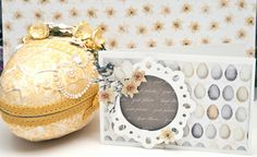 Easteregg and -card made with products from Papirdesign