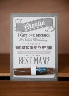 Will You Be My Groomsman? by LKBridal on Etsy