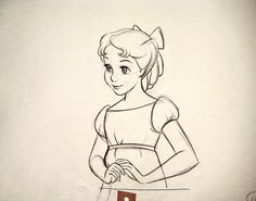 Wendy looks very lovely here. ★ || Art of Walt Disney Animation Studios © - Website | (www.disneyanimation.com) • Please support the artists and studios featured here by buying their works from their official online store (www.disneystore.com) • Find more artists at www.facebook.com/CharacterDesignReferences and www.pinterest.com/characterdesigh || ★