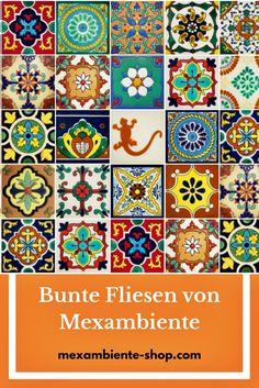Bunte Fliesen Aus Mexiko   Handbemalte Bunte Azulejos Aus Keramik In  Premium Qualität Von Mexambiente In Deutschland. Für Die Küche, Bad, Etc.