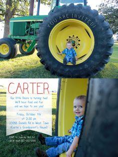 Custom John Deere Tractor Farm Birthday by stefanieastronaut, $15.00