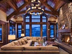 Дом в стиле шале - интерьер и особенности дизайна, фото примеров