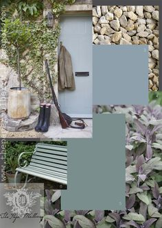 Delicious hues of chalky grey blue green, reminiscent of those gorgeous shutters in France, combine well with soft slate greys and gentle pu...