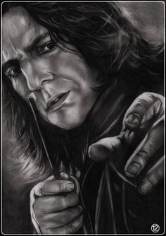 Severus Snape ...I'm not sure where this is from.I believe it is by someone on deviant art... shonechacko or  gabbyd70 on deviantart.com.  I wish I could give credit where credit is due.
