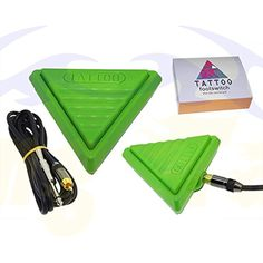Blackseal New Super Triangle Style ABS Material Foot Pedal Switch Clip Cord For Tattoo Power Supply Green Color *** Click on the image for additional details. (This is an affiliate link and I receive a commission for the sales) #TattooSupplies