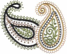 Paisley Embroidery Designs