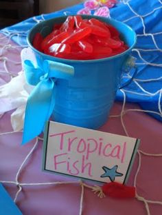 Homemade Tropical Fish (Gummy Fish) or use gold fish