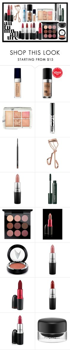 """""""travel kit"""" by la-ballona ❤ liked on Polyvore featuring beauty, Christian Dior, MAKE UP FOR EVER, Hourglass Cosmetics, MAC Cosmetics, Tweezerman and Clinique"""