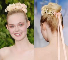 Elle Fanning totally cute fairytale headress
