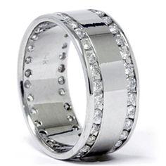 $979 1.50CT Diamond Eternity Wedding Anniversary Gold Ring