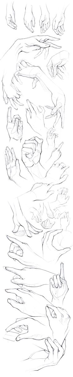 How to draw hands - Drawing reference - sketches - pose reference of human anatomy Drawing Poses, Drawing Tips, Drawing Sketches, Art Drawings, Drawing Hands, Drawing Ideas, Sketching, Gesture Drawing, Drawing Drawing