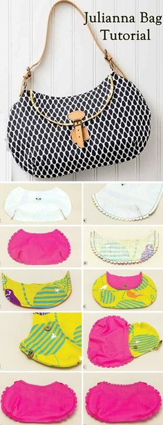 Julianna Bag. Sew Tutorial http://www.handmadiya.com/2015/07/julianna-bag.html