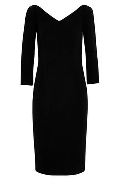 Un vestido negro con un punto sexy