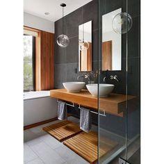 Glass ball lights in front of grey slates @homeadore  #interiordesign #light #lamp #design #home #designityourself #interior123 #einrichtung #interior4all by designityourself.de