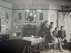 Compelling photograph of inside of 1890's Brown University  Dorm Room