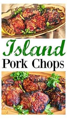Healthy Pork Chops, Grilled Pork Chops, Grilled Meat, Healthy Grilling Recipes, Entree Recipes, Healthy Dinners, Dinner Recipes, Pork Rib Recipes, Meat Recipes