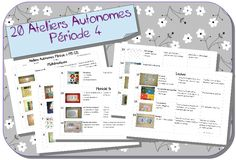 Ateliers autonomes période 4 MS-GS School Organisation, Grande Section, French Classroom, Montessori Materials, Educational Toys For Kids, Ms Gs, Reggio, Kids Learning, Activities For Kids