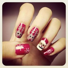 www.weddbook.com everything about wedding ♥  Xmas Holiday Nail Design #wedding #xmas #nail #christmas #red #santa