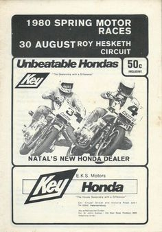 We hope you enjoy your visit to this website, enquiries, comments and suggestions will be most welcome.We still need contributions of programme covers and contents not listed between 1953 to 30 August, New Honda, Programming, South Africa, 30th, Racing, Memes, Posters, Running