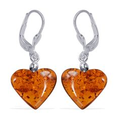 Liquidation Channel | Baltic Amber Earrings in Sterling Silver (Nickel Free)